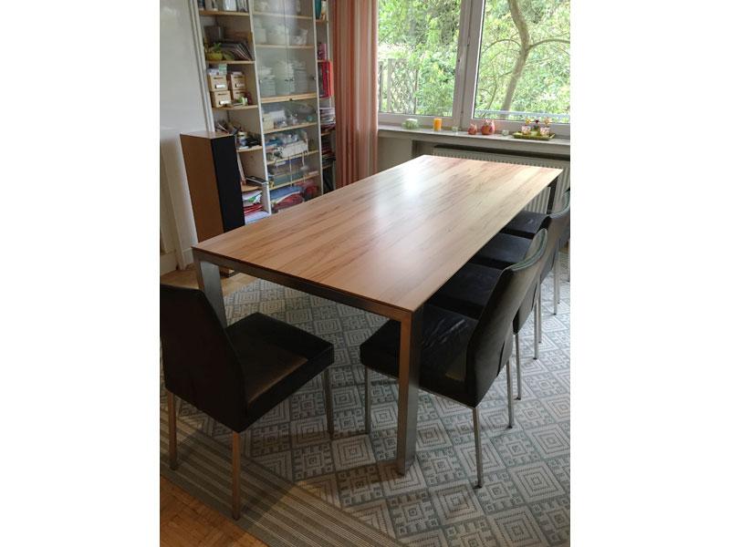 ausziehbarer esstisch amalfi aus hochwertigem massivholz. Black Bedroom Furniture Sets. Home Design Ideas